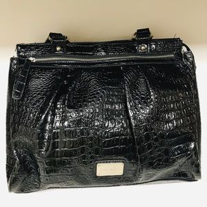 Black Nine west women's big shoulder bag